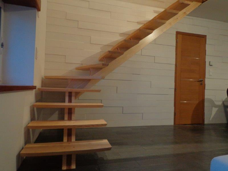 Escalier limon central fabrication artisanale